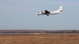 Airplane Landing on the Runway Footage