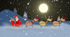 Santa in A Hurry Ride Footage