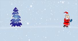 Christmas Tree with Santa Claus Footage