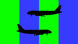 Airplanes Against striped Background Footage