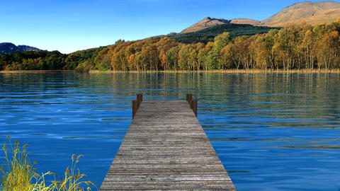 lake and dock Stock Video Footage