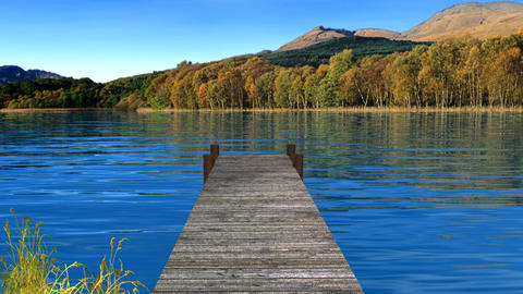 lake and dock Animation