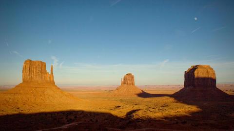 (1134) Monument Valley Utah Sunset Moonrise Timelapse Stock Video Footage