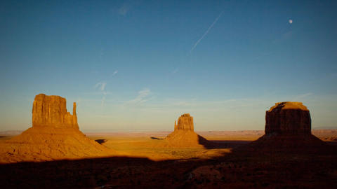 (1134) Monument Valley Utah Sunset Moonrise Timelapse Stock Video Footage