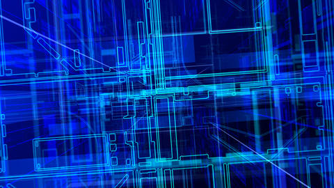 Cyber Space A HD Stock Video Footage