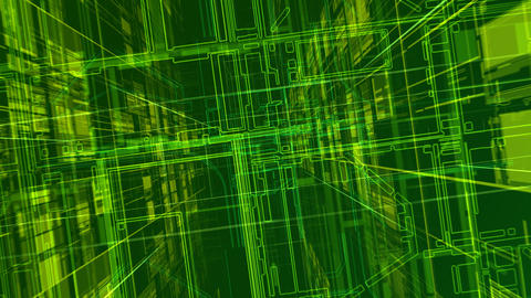 Cyber Space D HD Stock Video Footage