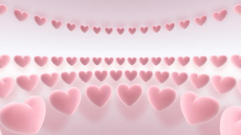 rotating hearts Stock Video Footage