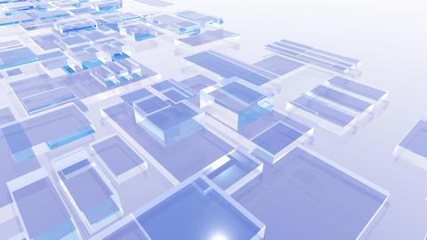 Floating squares Animation