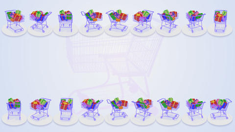 Shoppingcart Frame Dp HD Stock Video Footage
