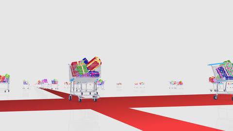 Gift Present Run Bp HD Stock Video Footage