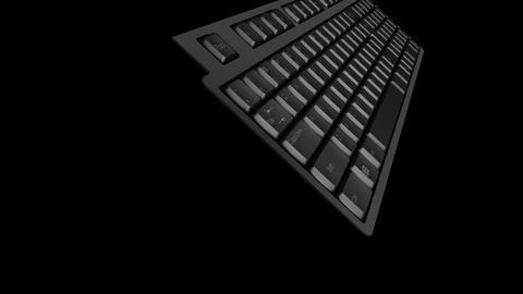 Computer Keyboard DMono Ke C Stock Video Footage