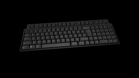Computer Keyboard DMono Ke B Stock Video Footage