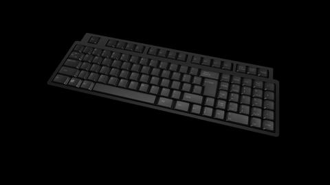 Computer Keyboard DMono Ke B Stock Video Footage