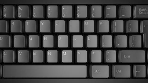 Computer Keyboard DMono Ke D Stock Video Footage
