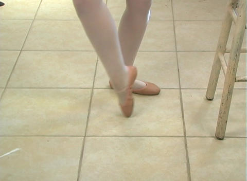 Young Female Ballet Feet (2) Footage