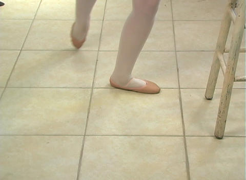 Young Female Ballet Feet (2) Stock Video Footage