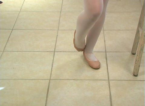 Young Female Ballet Feet (4) Stock Video Footage