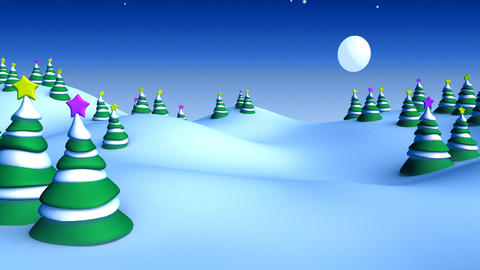 christmas landscape 05 Stock Video Footage