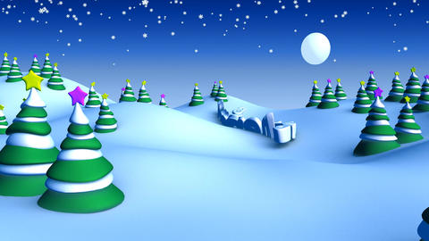 christmas landscape 05 Animation