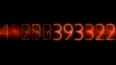 ntsc numbers red0001 Stock Video Footage