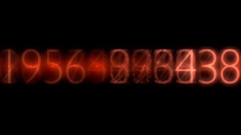ntsc numbers red0001 Animation