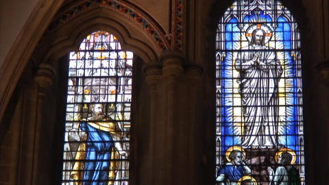 Wells cathedral StainGlass2 Footage