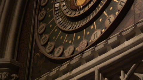 Wells Cathedral ClockCS JesusStatue Stock Video Footage