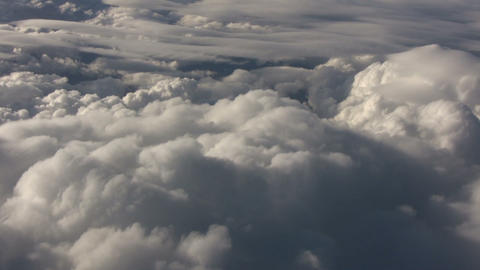 せいかいBeautiful view from above the sunny clouds (High... Stock Video Footage