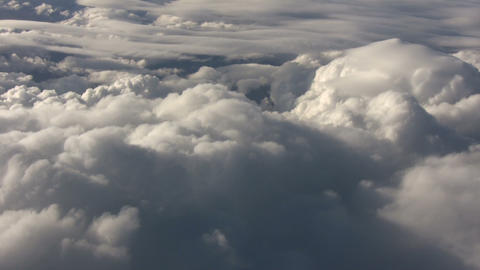 せいかいBeautiful view from above the sunny clouds (High Definition) Footage