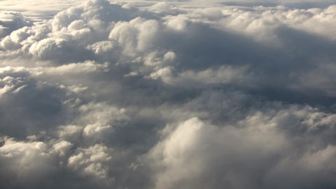 Beautiful view from above the sunny clouds (High Definition) Live Action