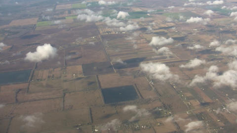 Beautiful view of country from above the clouds (High... Stock Video Footage