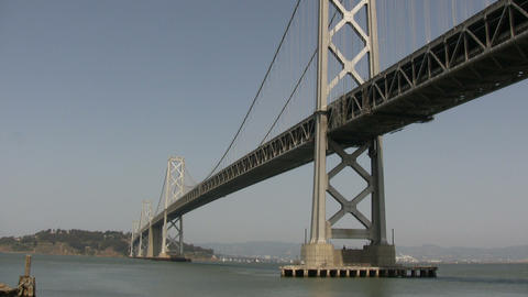 Bay Bridge in San Francisco Bay Footage