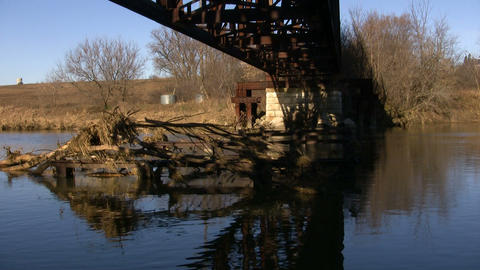 Bridge Over Water 4 (High Definition) Stock Video Footage