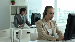 Call Center Employers stock footage