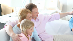 Family Life Indoors stock footage
