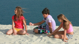 At Beach stock footage