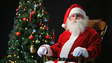 Santa In A Rocking-chair stock footage