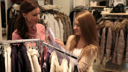 Girls enjoying shopping Footage