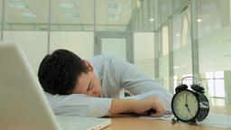 Sleeping Businessman stock footage