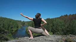 Yoga And Nature stock footage
