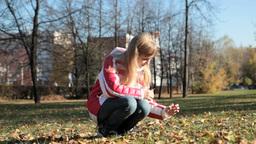 Picking leaves Footage