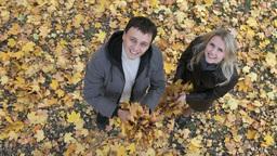 Couple autumn spirit Footage