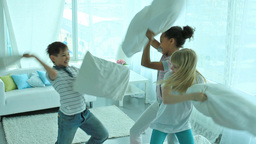 Classic pillow fight Footage