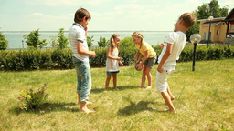 Children playing outdoors Footage