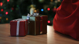Giving Presents stock footage