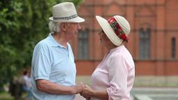 Romantic Elderly Couple Footage