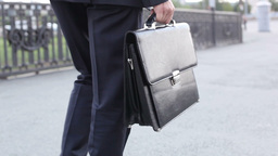 Executive Walking With Briefcase Footage