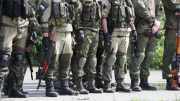 Military Squad Armed With Shotguns Forming-Up Footage