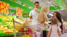 Supermarket Teddy stock footage