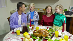 Family At Table stock footage